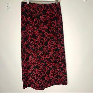 Vintage Briggs New York Maxi Pencil Skirt Womens 8